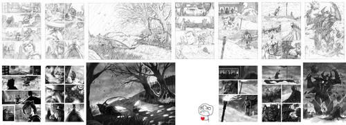 Batman Noir Sample Pages by JoelPoischen
