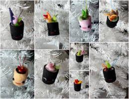 Mini Sushi Ornaments by Jonisey