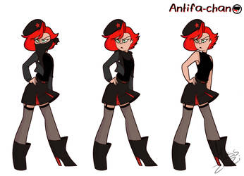 Antifa Chan by Miss-Zi-Zi