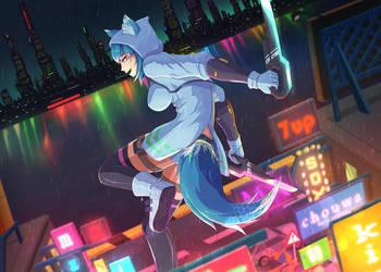 Murar Cyberpunk Commission by emubi
