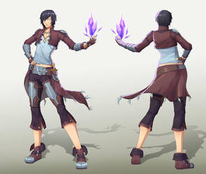 Bandit mage - character design by emubi