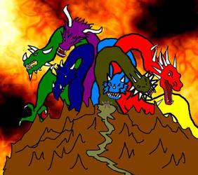 Hell King Vs Dagon by rsemente
