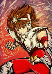 Pegasus Seiya by aomarine
