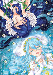 FE - Aqua and Lucina by aomarine