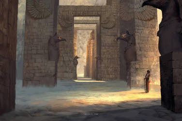 Desert Temple by Nele-Diel