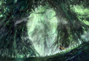 Tree Village by Nele-Diel