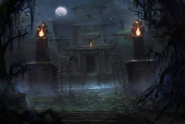 Creepy Mansion by Nele-Diel