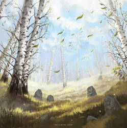 The Birch Glade by Nele-Diel