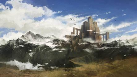 Sky Fortress by Nele-Diel