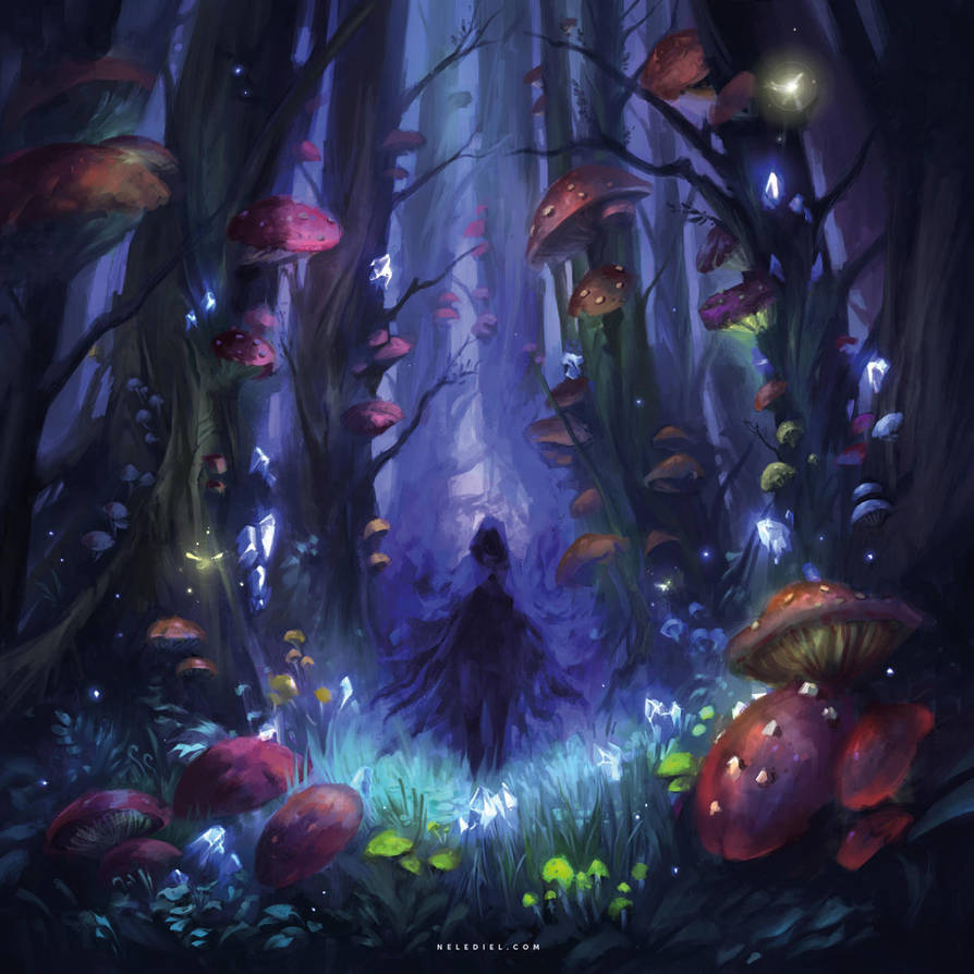 Dark Mushroom Forest by Nele-Diel