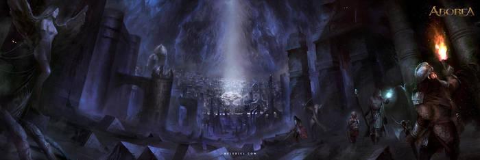 Ruins in the Underground by Nele-Diel