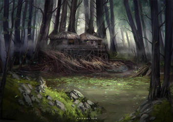The Hermit's Retreat by Nele-Diel