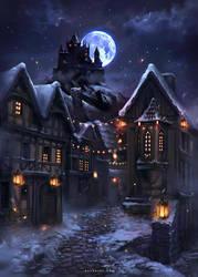 Lights in a Winter Night by Nele-Diel