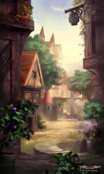 Peaceful Town by Nele-Diel