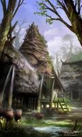 Island Village by Nele-Diel