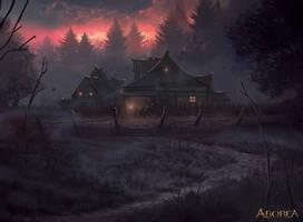 Homestead in the Woods by Nele-Diel