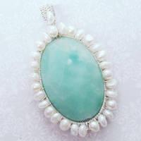 Amazonite and Pearls by Gailavira