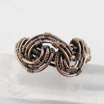 Freeform Woven Copper Ring by Gailavira