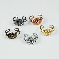 Spiral Button Ear Cuffs by Gailavira