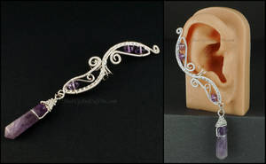 Silver and Amethyst Fairy Ear Cuff by Gailavira