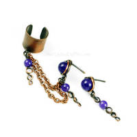 Chained Copper Ear Cuff by Gailavira