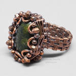 Copper Wire Wrapped Russian Serpentine Ring by Gailavira