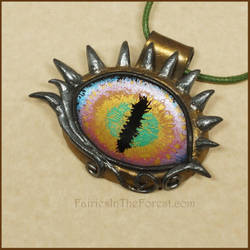 Rainbow Dragon Eye Necklace by Gailavira