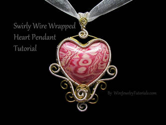Swirly Heart Pendant Tutorial on Youtube by Gailavira