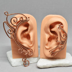Copper Ear Wrap/Cuff Set by Gailavira
