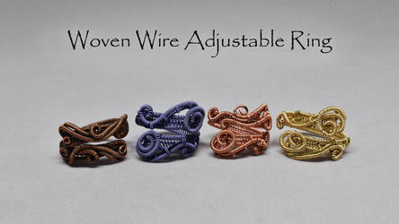 Woven Adjustable Ring Video Tutorial by Gailavira
