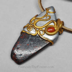 Brecciated Jasper and Polymer Clay Necklace by Gailavira