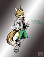 fox with bg by pnutink