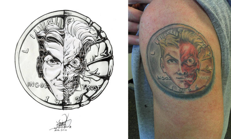 Two Face Coin Tattoo By Pnutink On Deviantart