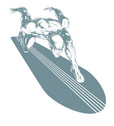 Silver Surfer digi ink by pnutink