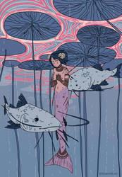 River Mermaid by Blue-Milk95