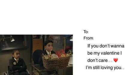 Valentine Card The Xs by Aqourschan