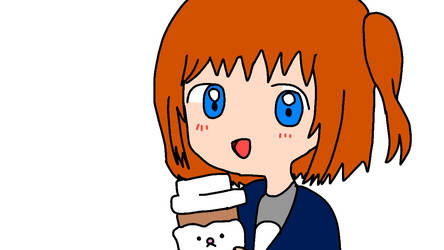 OMalley and her Hot Chocolate Starbucks by Aqourschan