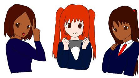 Odd hair squad part 2 by Aqourschan
