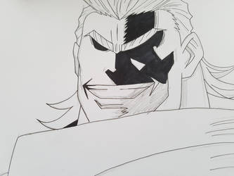 My hero Academia All Might WIP by MT-Artwork