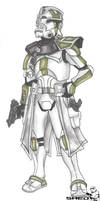 Green Clone Commander by oo0shed0oo
