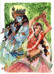Krishna and Radha by Alice-Bobbaji