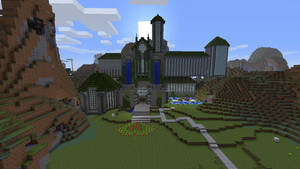 .Minecraft Castle. by squidcheese