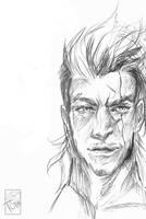 Final Fantasy XV Gladio Sketch by toira-creates