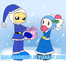 AT Christmas (Late) - GenocideBomber and Aqua by SailorBomber