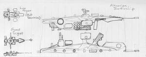 Ship doodles: BS and frigates by TorinZece