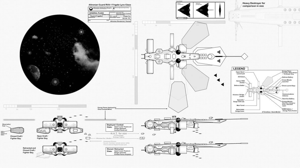 Altronian Frigate  ::: RVX1 by TorinZece