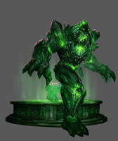 Emerald Golem by johnnymorrow