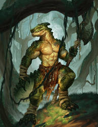 Lizardfolk Cover by johnnymorrow