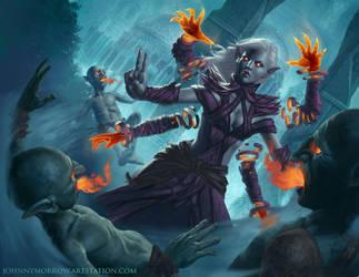 Dark Elf Magic by johnnymorrow