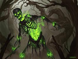 Skeleton Green by johnnymorrow